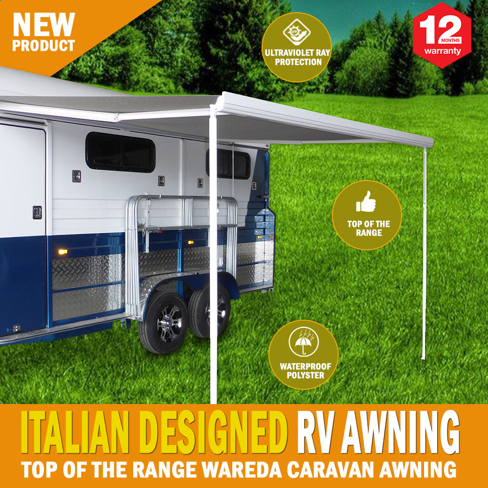 New 8 Ft Replacement Caravan Roll Out Awning Pvc Vinyl