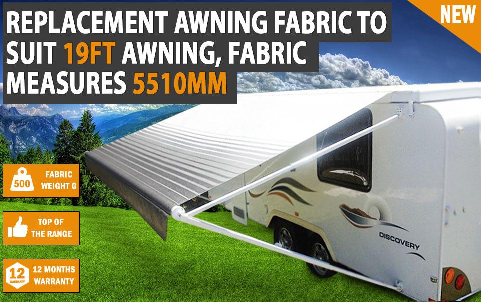 NEW 20 Ft Awning Replacement PVC Vinyl / Fabric Caravan ...