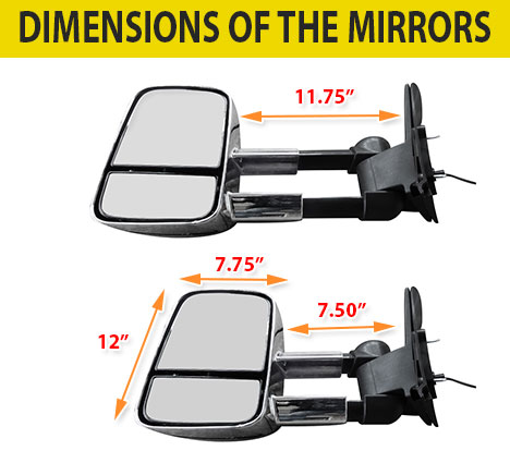 Details about Electric Chrome Towing Caravan Side Mirrors 2x Mitsubishi  Pajero 2001 to Current