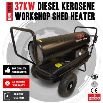 NEW Industrial 37KW 125,000 BTU Diesel / Kerosene Workshop Shed Heater