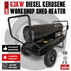 Industrial 63KW 215,000 BTU Diesel / Kerosene Workshop Shed Heater