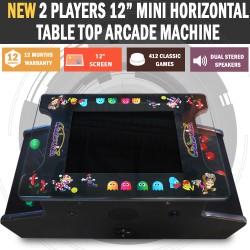"15"" Mini Arcade Machine Tabletop Upright Cocktail Video Game Pinball Pool"