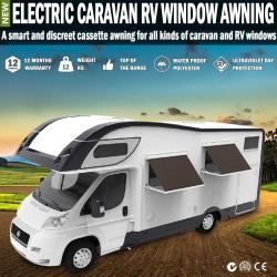 Electric Caravan Rv Window Awning Remote 2m Wide Italian Designed Wereda