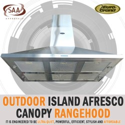 Alfresco BBQ Outdoor Island Canopy Rangehood 1500 X 900 Suction 2400m/3
