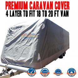 PINNACLE 4 LAYER PREMIUM CARAVAN COVER to fit 18 to 20ft Van UV & Waterproof