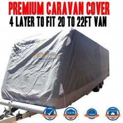 PINNACLE 4 LAYER PREMIUM CARAVAN COVER to fit 20 to 22ft Van UV & Waterproof