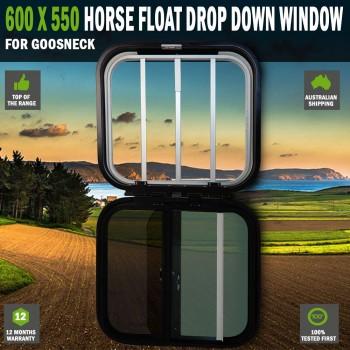 600 x 550 Horse Float Drop Down Window Gooseneck RV Caravan Fly Wire