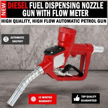 Automatic Shut Off Fuel Dispensing Petrol, Diesel Nozzle Gun With Flow Meter