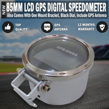85mm LCD Digital GPS Speedometer, Speedo Stainless 200km & Mounting Bracket