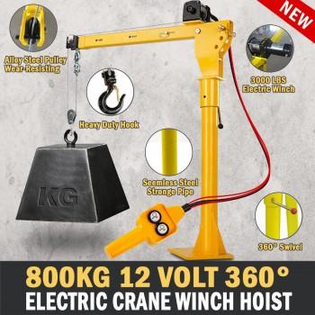 Electric Hoist Winch Crane 300kg 12V 360 Degree Engine Car Truck Lift