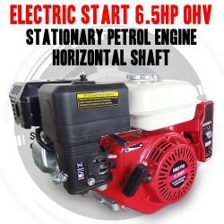ELECTRIC START 6.5HP OHV STATIONARY PETROL HORIZONTAL SHAFT ENGINE