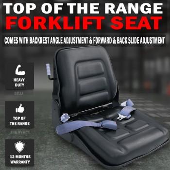 Adjustable Forklift Seat Multi Adjustable With Seat Belt, Bobcat Tractor