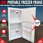 198L Portable Freezer Fridge 12V/24V/240V Camping Car Boating Caravan Fridge