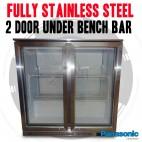 Fully Stainless Steel 2 Door Under Bench Beer Fridge