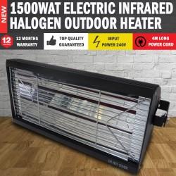 NEW 240V Electric Halogen Patio Heater Indoor/Outdoor Lamp Unit
