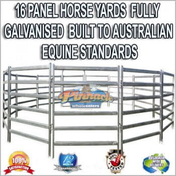 16 Panel Horse Yards Inc Gate, round Yard, Cattle Fences, Corral