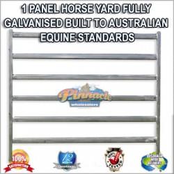 1 Panel Horse Yard Cattle Fully Galvanised Built To Australian Equine Standards