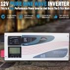 12V 3000/9000W Inverter Charger Pure Sine Wave DC Caravan Motorhome