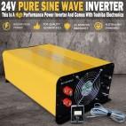 Pure Sine Wave Power Inverter 3000W(6000W Max) 24V-240V Remote Control & USB
