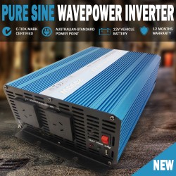 Pure Sine Wave Power Inverter 2000w / 6000w 12v - 240v AUS plug Car Caravan