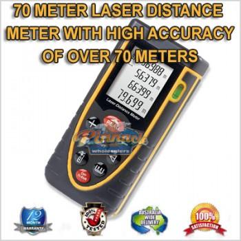 70 METER LASER DISTANCE MEASURER METER WITH ULTRA HIGH ACCURACY 70 METERS