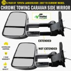 Electric HighVis Side Mirror Pair Toyota Land Cruiser 200 Series Indicators