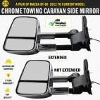 Electric Towing Caravan Side Mirror Pair Mazda BT 50 Series Indicators