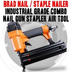 DAJ XAGD50 Brad Nail, Nailer Industrial Grade Combo Nail Gun Stapler Air Tool
