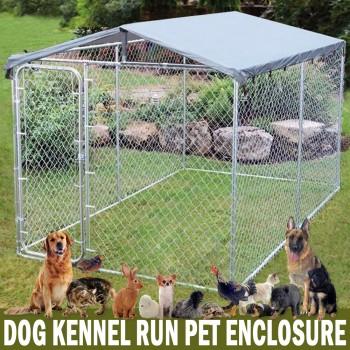 3m x 2m x 2.1m Dog Kennel Run Pet Enclosure Run Animal Fencing Fence Playpen