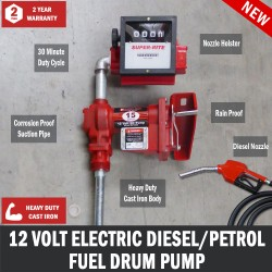 12V Gasoline Diesel Petrol Fuel Transfer Pump Flow Meter Fuel Auto Shut Off Nozzle