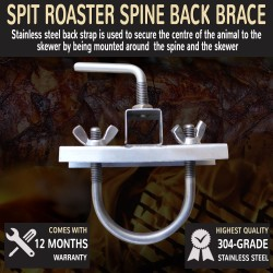 Pig Spit Roaster Spine Back Brace Stainless Steel Rotisserie