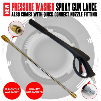 NEW High Pressure, Pressure washer Spray Gun Lance Comes Quick Connect Nozzle