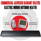 1800W COMMERCIAL ALFRESCO RADIANT STRIP PATIO HEATER, ELECTRIC INDOOR OUTDOOR