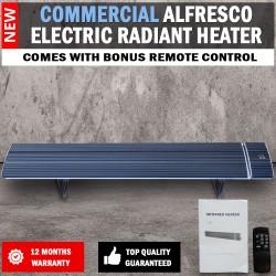 2400W Commercial Alfresco Radiant Strip Patio Heater Electric Indoor Outdoor