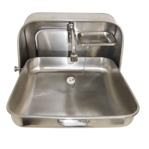 Stainless Steel Fold Down Wash Basin Sink Caravan Motor home Camping ...
