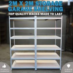 2M x 2M Metal Warehouse Racking Rack Storage Garage Shelving Shelf Shelves