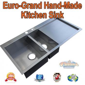 EURO-GRAND HANDMADE STAINLESS STEEL KITCHEN SINK