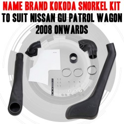 Name Brand Kokoda Snorkel Kit to Suit Nissan GU Patrol Wagon 2004 Onwards