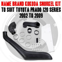 Name Brand Kokoda Snorkel Kit to Suit Toyota Prado 120 Series 2002 to 2009