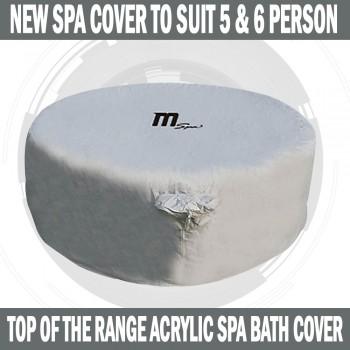 MSPA Spa Acrylic Cover To Suit 5 & 6 Person Spa Bath Hot Tub