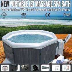 MSPA 6 Person Portable Hydro Jet Massage Spa Bath Hot Tub Heats To 40 Degree