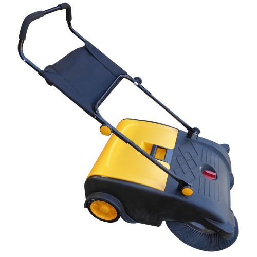 Industrial manual walk behind floor factory sweeper 50l for Concrete floor sweeper
