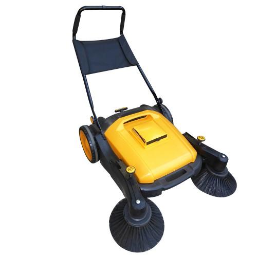 Industrial manual walk behind floor sweeper 50l capacity for Concrete floor sweeper