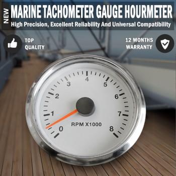 Marine Motor Tachometer Boat Tacho Gauge Car Truck Digital 0-8000 RPM