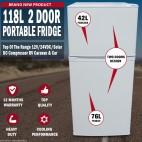 118L Portable Freezer Fridge 12V/24V/240V Camping Car Boating Caravan Fridge
