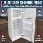 168L Portable Freezer Fridge 12V/24V/240V Camping Car Boating Caravan Bar