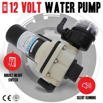 High Pressure 17 Litre/Min 40Psi 12 Volt Water Pump & Filter, For Shower