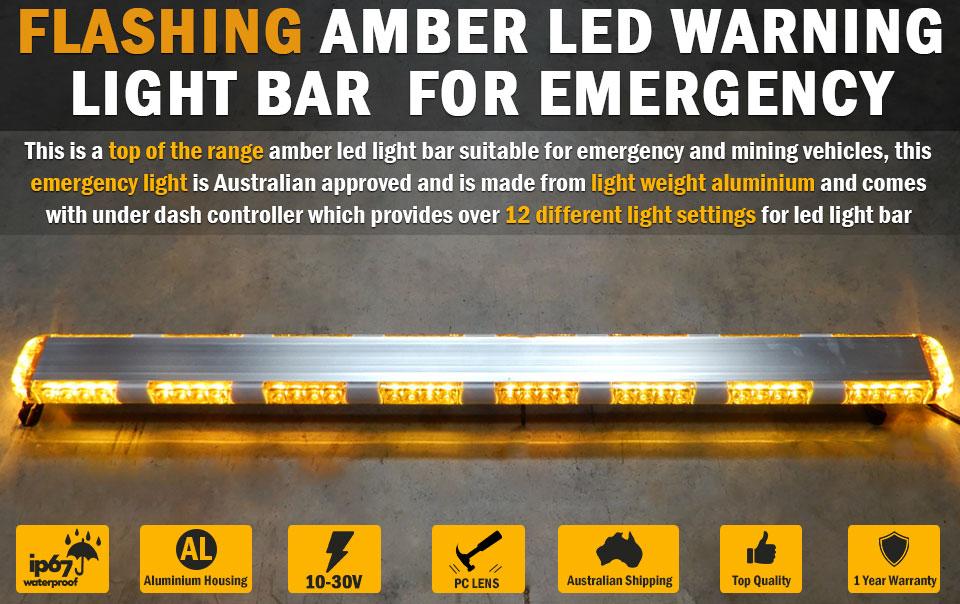Flashing amber led warning light bar emergency safety hazard beacon amber led warning light bar flashing emergency safety hazard beacon lightbar car aloadofball Gallery