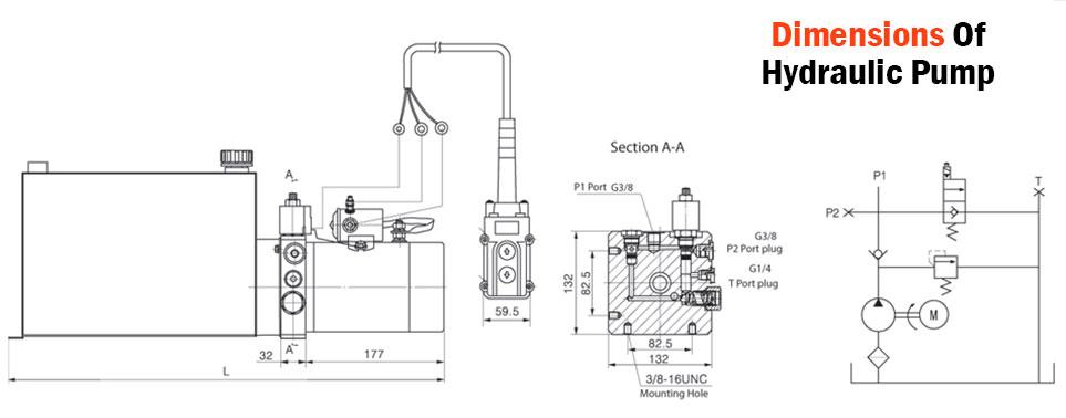 hyydraulic pump power pack unit 12v single acting 3200psi. Black Bedroom Furniture Sets. Home Design Ideas