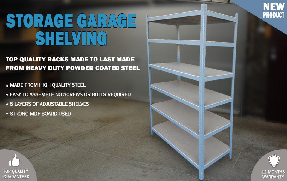 Metal Warehouse Racking Rack Storage Garage Shelving Shelf Shelves